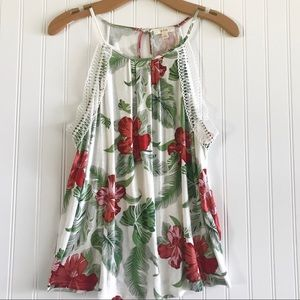 Anthropologie E Hanger M Floral Tank Top